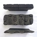 THREE NEPAL NEPALESE Handmade Fabric Block Stamp Antique Wooden Chop Textile Print #9