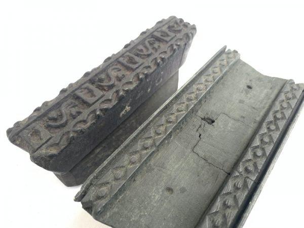 NEPAL NEPALESE Antique Batik Print Wood Printing Block Textile Fabric Chop Stamp Kathmandu #13