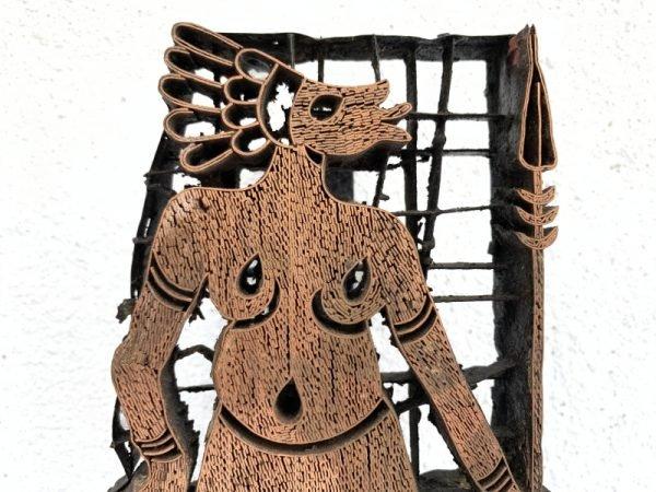 TRIBES OF BORNEO 210mm Old Batik Tjap Print Stamp Chop Block Brass Bronze Stamping