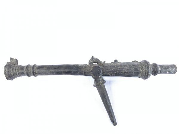 SMALL CANNON 310mm Antique Mini Miniature Islamic Lantaka Brunei Borneo Brass Bronze