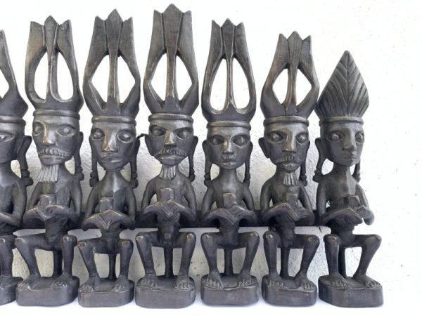 NIAS WARRIOR STATUE 390mm Interior Hotel Home Pub Bar Office Tribal Sculpture Figure Figurine