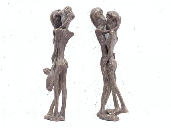 FOUR NAKED STATUE (For Wedding or Lovers) Brass Man Women Male Female Figure Figurine Sexy Asian