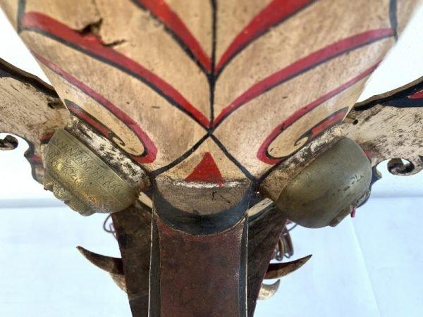 MUSEUM PIECE MASK 520mm LONG SNOUT Antique Borneo Dancing Hudog Masque Tribal Artifact Sculpture