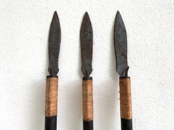 THREE SUMPIT 78″ / 1980mm TRADITIONAL BLOWPIPE Spear Primitive Hunting Weapon Knife Tribal Asia