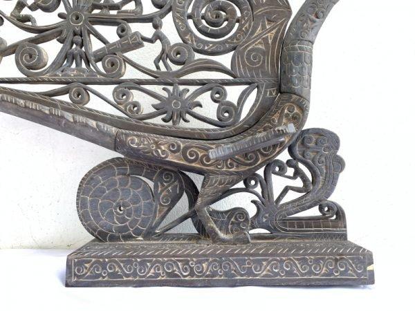 Wooden Bird Supersize 1820mm/1.82meter Sculpture Travel Asia Borneo Hornbill Statue Animal Figure
