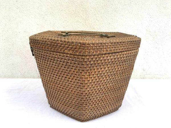 Wedding Tea Ceremony 285mm Rattan Chinese Basket Box Woven Weaving Fiber Art