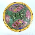 COVERED BOWL 200mm Kamcheng Jar Porcelain Ceramic Peranakan Baba Nyonya Chinese Pot