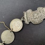 ANTIQUE SILVERWARE 420grams Sterling Silver Belt Coin Currency Jewel Jewelry Asia